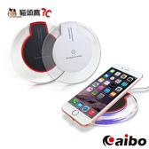【貓頭鷹3C】aibo TX-Q4 Qi 智慧型手機專用 水晶碟無線充電板-黑色/白色[CB-TX-Q4]