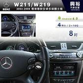 【專車專款】2002~08年Benz W211/W219 專用8吋觸控螢幕安卓多媒體主機*藍芽+導航+安卓*無碟4核心