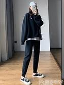 哈倫褲 運動褲女寬鬆束腳2021新款秋冬季外穿顯瘦哈倫褲加絨加厚休閒衛褲 嬡孕哺 免運