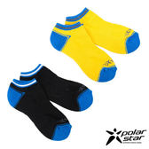 PolarStar 中性排汗快乾厚底踝襪 (2入) 淺黃/黑 L號 P15525