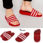 愛迪達 Adidas Adilette 紅 白 拖鞋 涼鞋 涼拖鞋 男鞋 女鞋 288193
