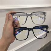 黑色方框眼鏡框女韓版潮大圓臉顯瘦ins復古文藝素顏網紅款平光鏡