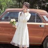 雪紡長袖遮肉洋裝收腰顯瘦 氣質女2020新款夏日系溫柔風長裙子 【雙12購物節】