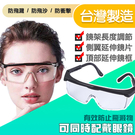 防飛濺 可伸縮防護眼鏡 適合各式頭型  一組6入 S03