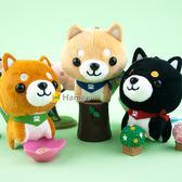 Hamee 柴犬三兄弟 絨毛娃娃 玩偶 珠鏈吊飾 掛飾 交換禮物 (任選) HT-SB001