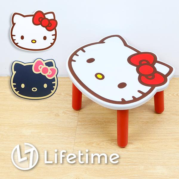 ﹝Kitty大臉造型木矮凳椅﹞正版 矮凳椅 組裝椅 小椅子 三麗鷗 凱蒂貓〖LifeTime一生流行館〗