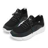 PLAYBOY 炫彩注目 襪套式休閒鞋-黑(Y5279黑)