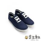 【樂樂童鞋】【台灣製現貨】MIT清新休閒鞋-藍 C032 - 現貨 台灣製 女鞋 休閒鞋 套腳鞋 平底鞋