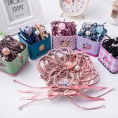 兒童橡皮筋發繩頭繩韓國小清新女童頭飾蝴蝶結發圈頭花寶寶發飾品  易貨居
