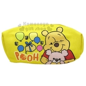 〔小禮堂〕迪士尼 小熊維尼 厚帆布拉鍊化妝包《黃.抱熊》萬用包.收納包.筆袋 8039320-40215