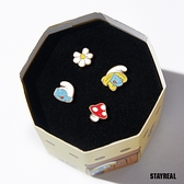 STAYREAL x 藍色小精靈 SMURFS耳環組