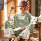 睡衣女夏季純棉短袖長褲少女加肥加大碼胖mm200斤ins風網紅家居服「時尚彩紅屋」