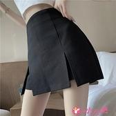 褲裙 時尚氣質超高腰緊身顯瘦包臀裙2021年春季新款性感黑色半身褲裙女 小天使 618