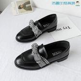 樂福鞋韓版復古單鞋原宿英倫風皮鞋【洛麗的雜貨鋪】