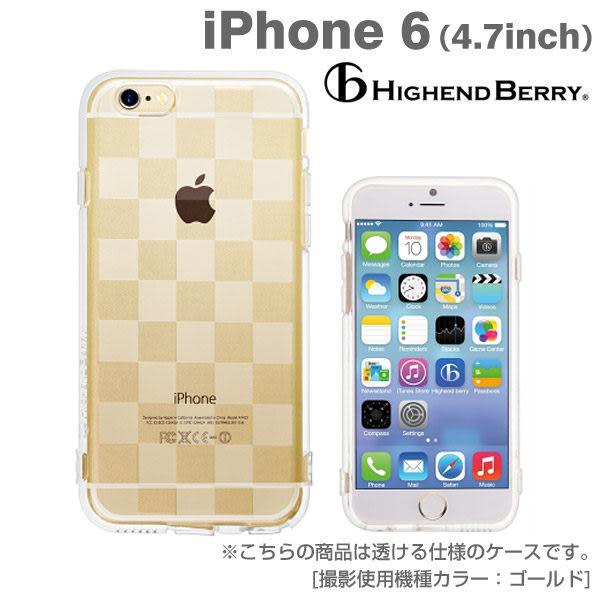 ❤Hamee 日本 Highend Berry 設計圖樣系列 透明軟式TPU 4.7吋 iPhone6 手機殼 (格紋) [558-984022]