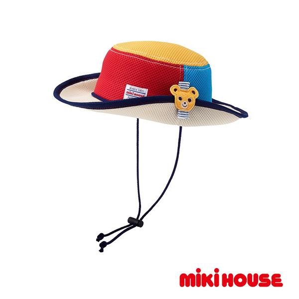 MIKI HOUSE 抗UV普奇熊透氣遮陽帽(拼色)