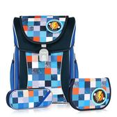 TigerFamily學院風超輕量護脊書包+文具袋+鉛筆盒--宇宙藍 【黃嘉千 夏天真心推薦】