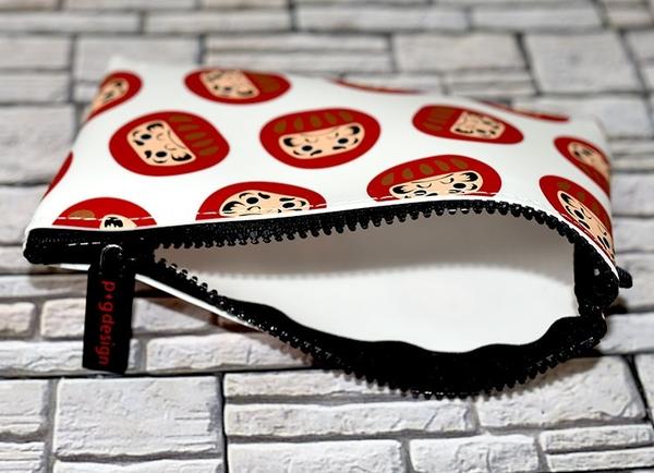 不倒翁 達摩 矽膠多功能包 筆袋 化妝包 日本正版 p+g design