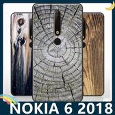 NOKIA 6.1 2018版 仿木紋保護套 軟殼 大理石紋 天然復古風 簡約全包款 手機套 手機殼 諾基亞