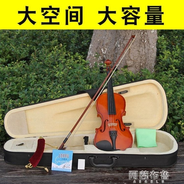 琴盒 小提琴琴盒三角盒輕便琴包成人兒童1/2/3/4/8盒子配件小提琴包輕 MKS阿薩布魯