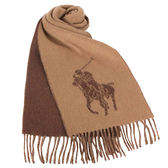RALPH LAUREN POLO 經典大馬圖徽保暖圍巾(駝色)780913-2