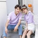 情侶裝 情侶裝小眾夏裝2019新款蕾絲邊蝴蝶結設計感短袖T恤男女