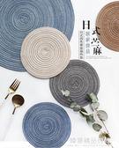 日式手工苧麻四色家用餐墊桌墊西餐墊隔熱墊碗墊鍋墊GD-39