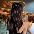 髮夾 LACELIPS 歐美長款閃鉆流蘇夸張髪箍女頭飾髪夾網紅頭箍個性髪飾【快速出貨八折下殺】