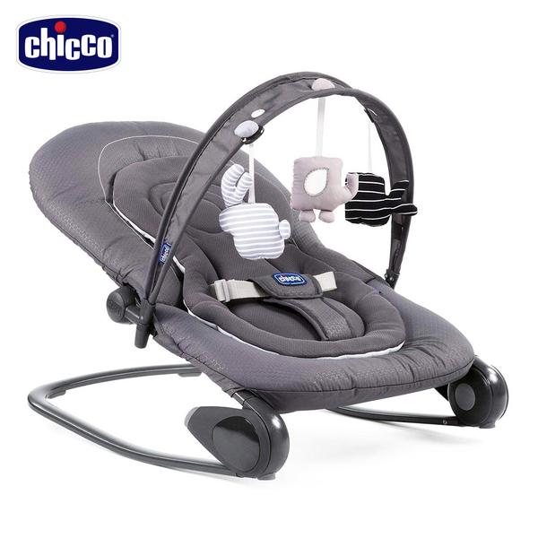 chicco-Hooplà可攜式安撫搖椅-月牙灰