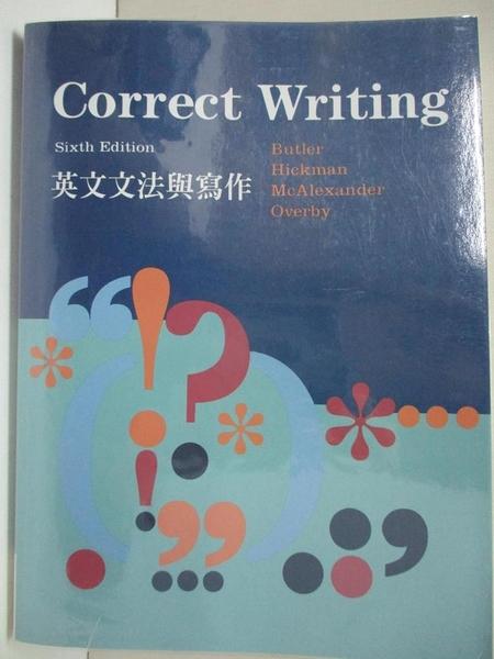 【書寶二手書T1/語言學習_D5I】Correct Writing 英文文法與寫作_Butler.Hickman