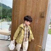 男童外套 童裝男童風衣外套正韓中長款兒童上衣寶寶洋氣潮童-Milano米蘭