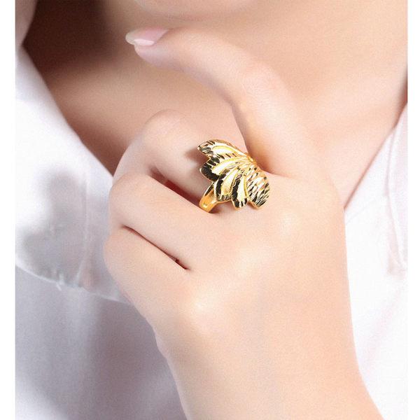 【5折超值價】最新款特色花瓣造型銅鍍18K金男女款戒指