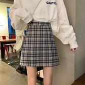 夏季2020新款港味格子半身裙復古BM風工裝高腰A字顯瘦包臀短裙女
