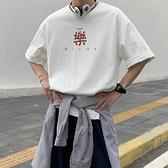 短袖T恤男 日系短袖t恤男士夏季ins潮流潮牌薄款半袖寬松大碼港風白色上衣服【快速出貨】