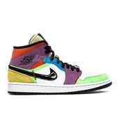 Nike Wmns Air Jordan 1 Mid SE Lightbulb Easter 彩色 白 女鞋 男鞋 喬丹 休閒鞋 運動鞋 【PUMP306】 CW1140-100