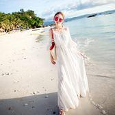 沙灘裙女夏2018新款長裙波西米亞連身裙