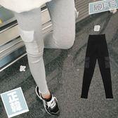 愛天使孕婦裝【62370Q】厚棉刷毛 口袋率性內搭褲 孕婦褲(瑜珈腰圍)