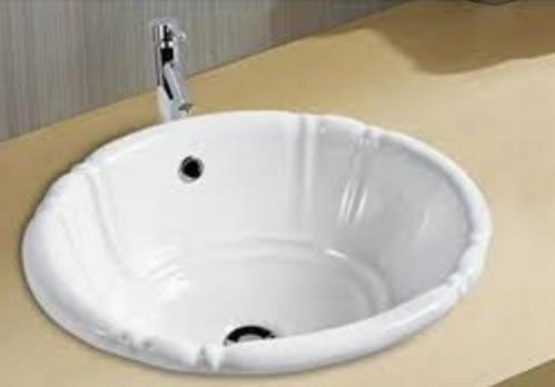 【麗室衛浴】 美國KARAT凱樂 造型  蓮花上崁面盆 K-1126  尺寸503*408