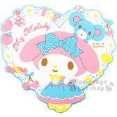 〔小禮堂〕美樂蒂 立體造型裝飾貼《白.愛心.弗蘭多.糖果.白花》輕鬆裝飾 4901610-08543