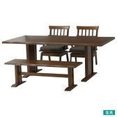 ◎橡膠木質餐桌椅四件組 SAZANAMI 180 柚木色 橡膠木 TW NITORI宜得利家居