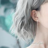 耳環女 純銀耳環韓版氣質長款吊墜星星流蘇簡約個性百搭耳飾品網紅耳墜女 果果輕時尚