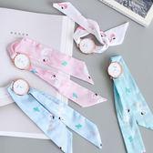 正韓時尚簡約潮流手錶 學生小清新女士腕錶布帶綁絲帶石英錶女錶