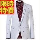 西裝外套薄款典雅-商務英倫風精美保暖男西服(單件外套)2色59t2【巴黎精品】