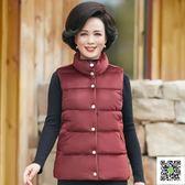 馬甲 中年冬裝女外套新款媽媽裝馬甲棉衣短款加厚棉服秋冬 歐歐流行館