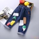 男童牛仔長褲休閒褲春季韓版女寶寶洋氣長褲【聚可愛】