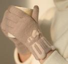 手套 觸屏手套冬天女可愛加絨加厚保暖韓版學生冬季騎車毛絨軟妹ins【快速出貨八折下殺】