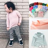 莫蘭迪色系 純色柔軟棉毛中高領內搭衫 半高領 打底衫 長袖上衣 小童 中童 男女童