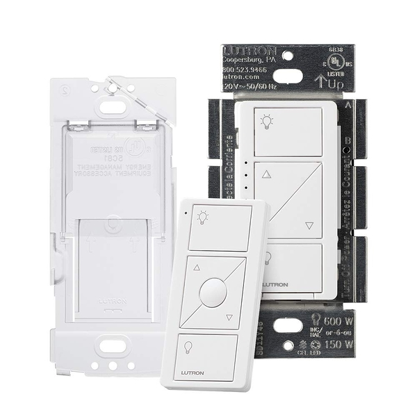 [8美國直購] 調光開關 Lutron Caseta Wireless Smart Dimmer Switch and Remote Kit, P-PKG1WB-WH White