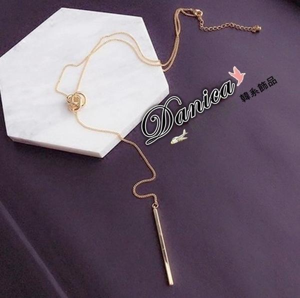 項鍊 現貨 韓國時尚氣質甜美潮風百搭簡約金屬感不規則纏繞長項鍊 S2452 批發價 Danica 韓系飾品