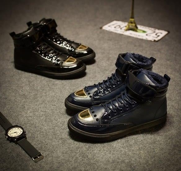 【找到自己】 韓國 高筒 韓鞋 高筒靴 鞋 兩色 金色